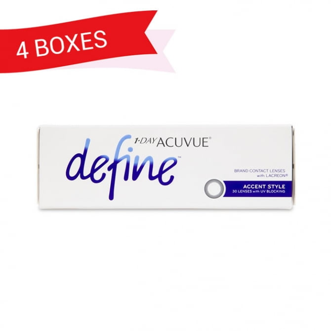 1-DAY ACUVUE DEFINE ACCENT STYLE (4 Boxes)