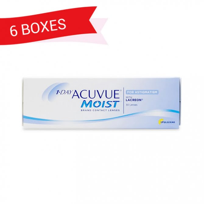 1-DAY ACUVUE MOIST FOR ASTIGMATISM (6 Boxes)