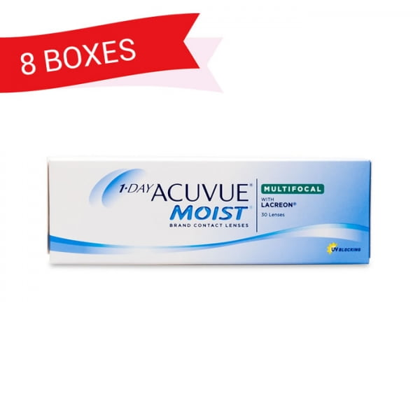 1-DAY ACUVUE MOIST MULTIFOCAL (8 Boxes)