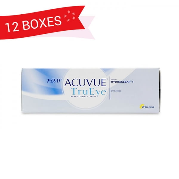1-DAY ACUVUE TRUEYE (12 Boxes)