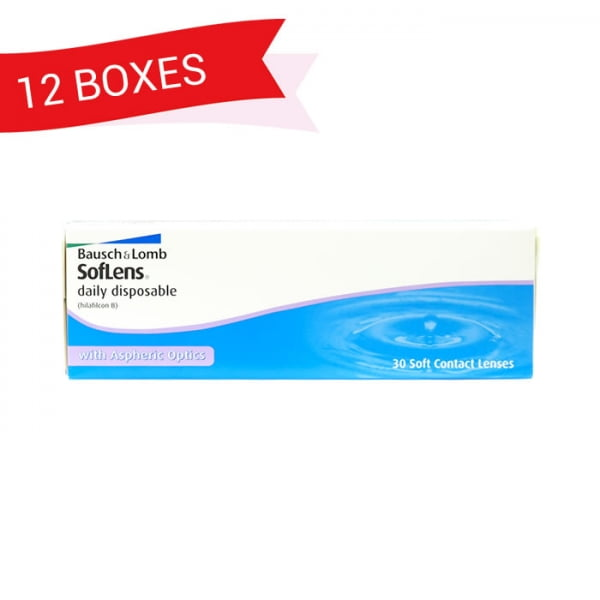 SOFLENS DAILY DISPOSABLE (12 Boxes)