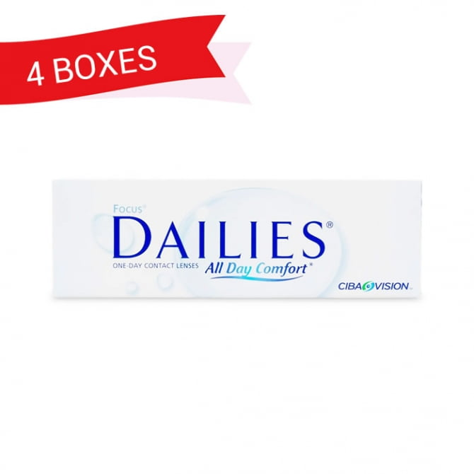 FOCUS DAILIES ALL DAY COMFORT (4 Boxes)
