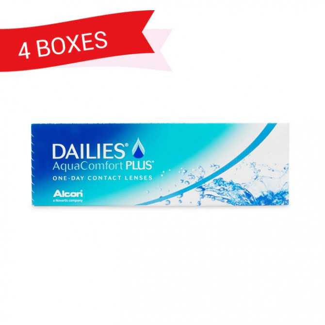 DAILIES AQUACOMFORT PLUS (4 Boxes)