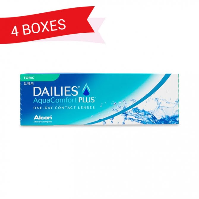 DAILIES AQUACOMFORT PLUS TORIC (4 Boxes)