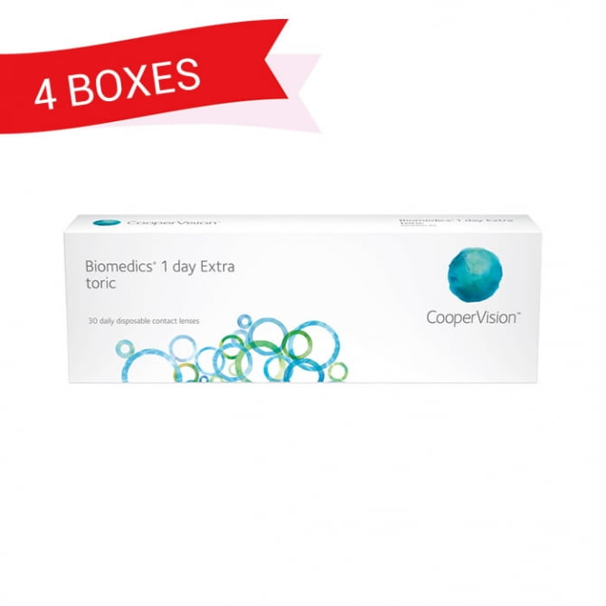 BIOMEDICS 1 DAY EXTRA TORIC (4 Boxes)