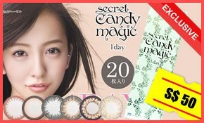 Secret 1day Candy Magic Japanese Circle Colored Lenses