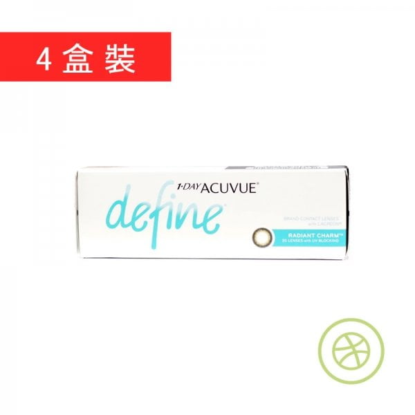 1-Day Acuvue Define Radiant Charm (4 Boxes)