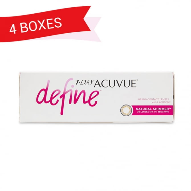 1-DAY ACUVUE DEFINE NATURAL SHIMMER (4 Boxes)