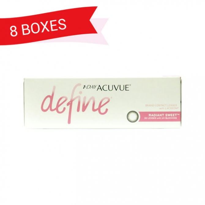 1-DAY ACUVUE DEFINE RADIANT SWEET (8 Boxes)