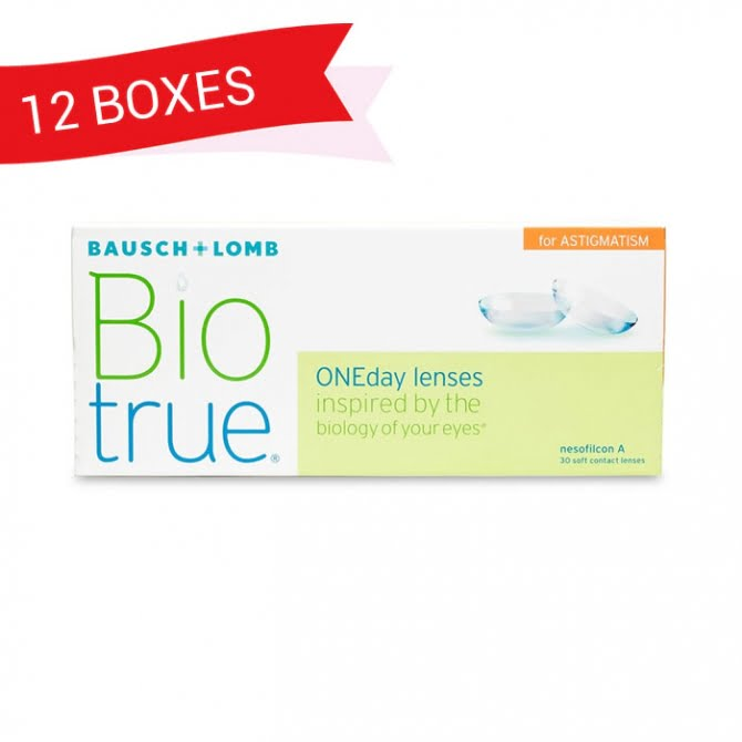 BIOTRUE ONEDAY FOR ASTIGMATISM (12 Boxes)