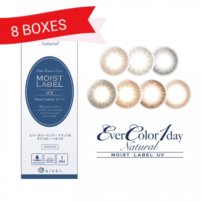 EverColor 1 Day Natural Moist Label UV (8 Boxes)