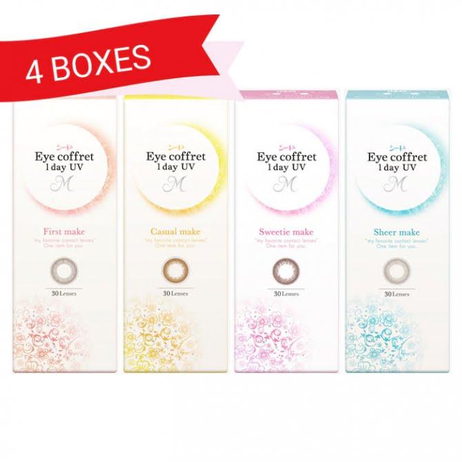 EYE COFFRET 1 DAY UV M (4 Boxes)