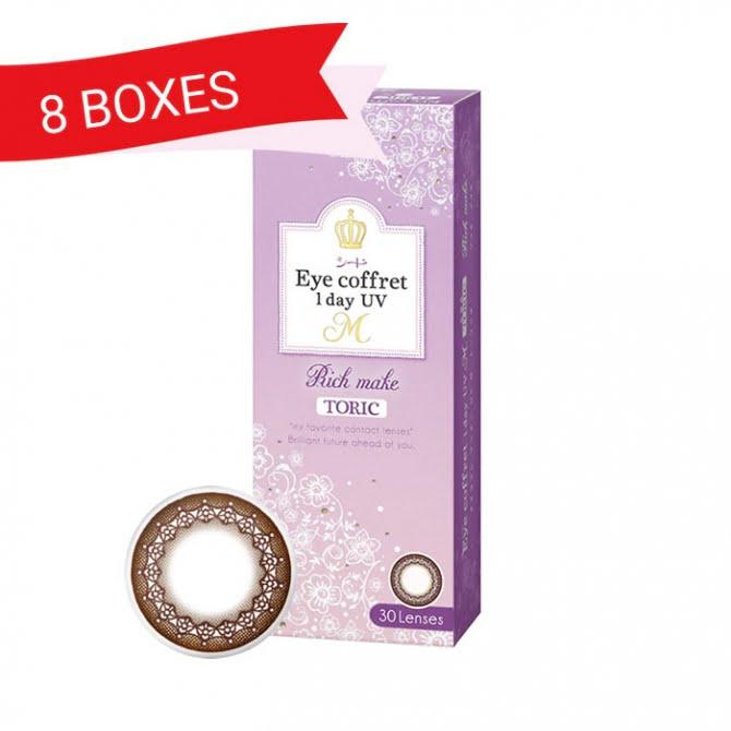 EYE COFFRET 1 DAY UV TORIC RICH MAKE (8 Boxes)